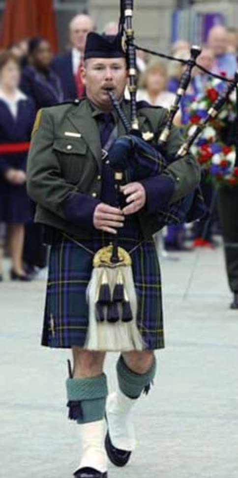 Brian in his band uniform.