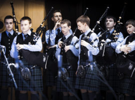 Inveraray & District Pipe Band at Celtic Connections 2010