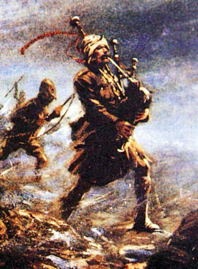 The Piper of Loos, Daniel Laidlaw VC.