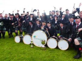 ScottishPower Pipe Band after winning the 2018 British Pipe Championships held in Paisley.
