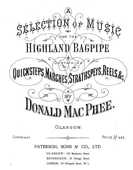 Front cover of Donald McPhee's collection.