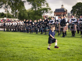 The toddler's marchpast…