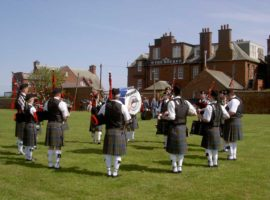 Stockbridge Pipe Band competing at Dunbar.