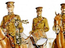 Piping on horseback – the band of the Canadian Mounted Rifles