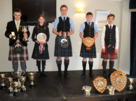 The age 15-17 winners. L-R: Bobby Allen, Catriona Norman, Calum McKillop, Matthew McKerral and Euan Lindsay.