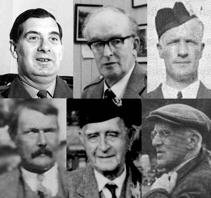 Clockwise: John MacLellan, Seumas MacNeill, John Wilson, Archibald Campbell, Angus MacPherson and Archie MacNeill.
