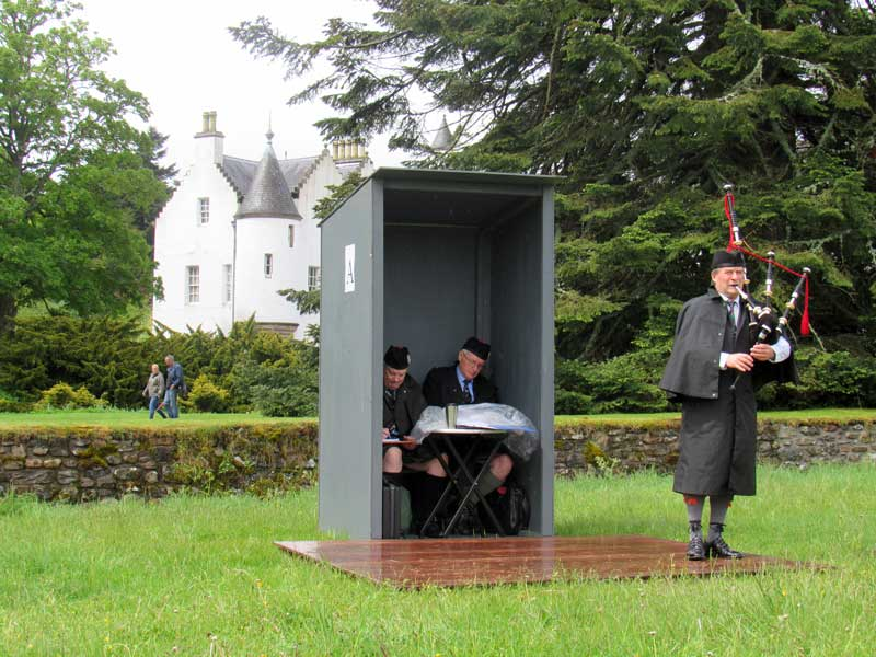 Angus MacColl competing in the Piobaireachd at Blair Castle today.
