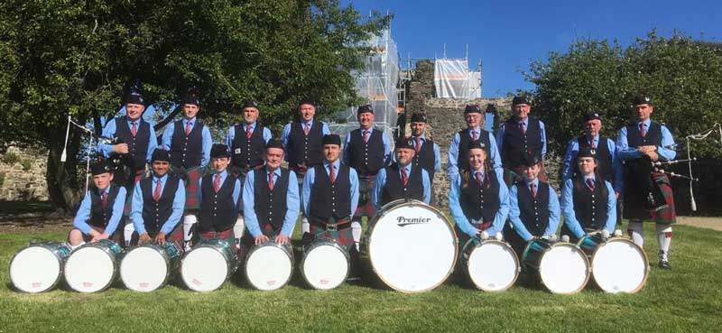 Black Raven Pipe Band. Photo, taken at last weekend's Leinster Pipe Band Championships, courtesy of Seamus Russell.