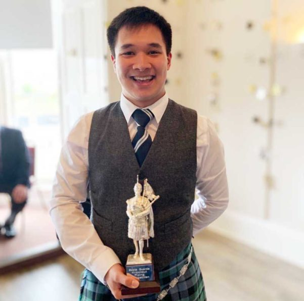 All smiles. Calum Brown, winner of the 2019 Scots Guards Knockout competition.