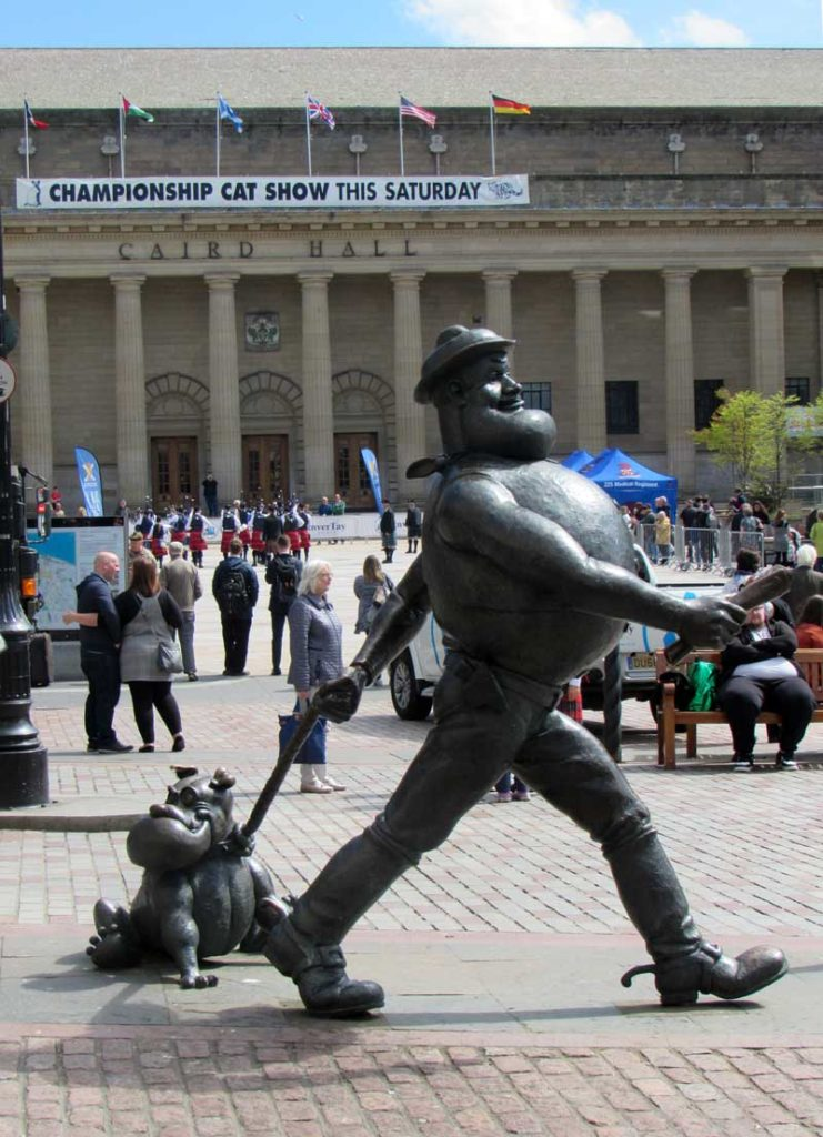 At Dundee, the competition took place in front of the Caird Hall in the city centre.