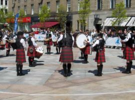 Dollar Academy Novice Juvenile A Pipe Band competing in Dundee today.
