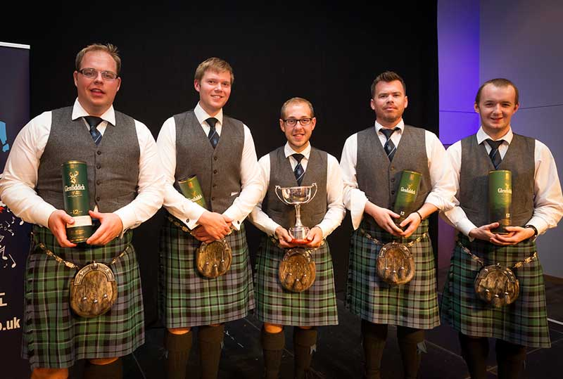 Inveraray. Quartet winners at the 2017 Piping Live! festival.