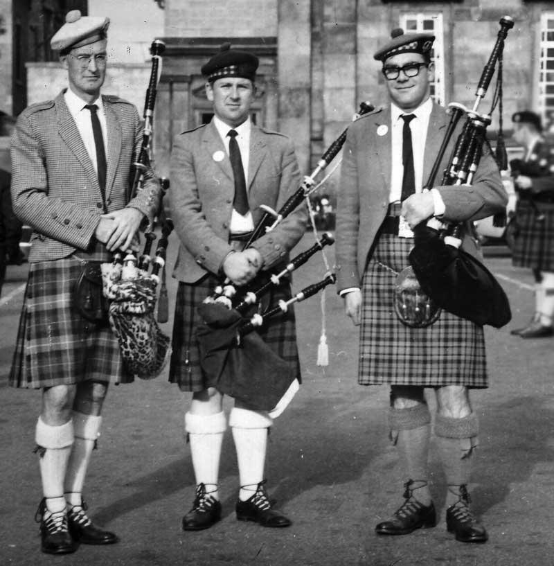 The 1966 Northern Meeting. Seumas MacNeill, John MacAskill and Hugh.