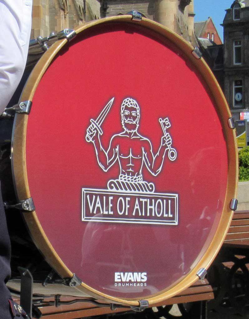 Vale of Atholl logo, bass drum