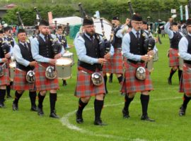 Emmet Conway marked his debut as Shotts Pipe Major with a decent run.