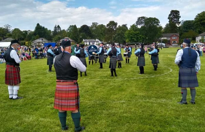 Beinn An Turic Kintyre Pipe Band competing yesterday at Helensburgh.