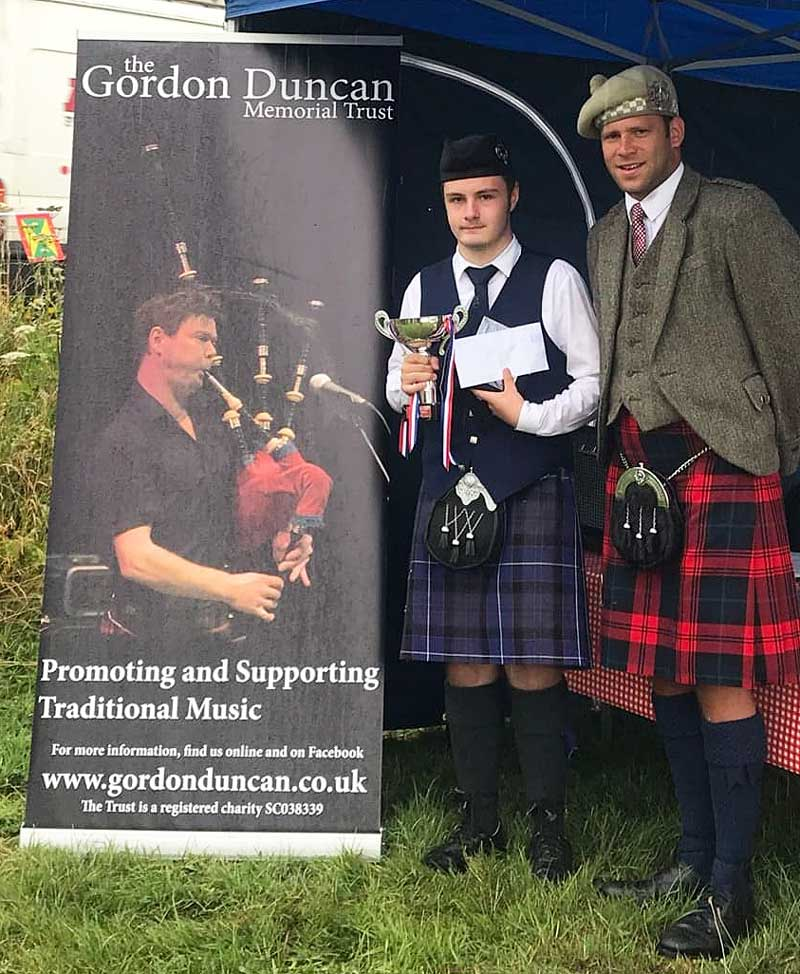Bobby Allen is pictured with judge Keith Bowes at last year's Kinlochard Gathering.