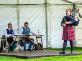 Gill Cairns competing in a CLASP competition at Inveraray in 2016.