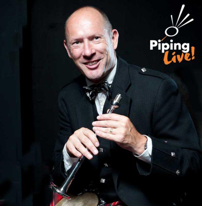 Iain Speirs, last year's winner of the Silver Chanter. Photo: Derek Maxwell/Wm Grant Foundation.