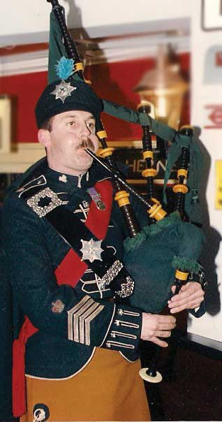 Pipe Major Jon Stranix.