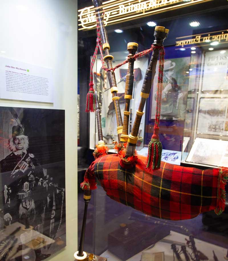 John Bàn MacKenzie's bagpipe.