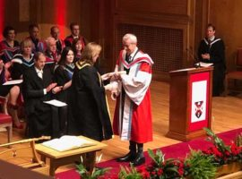 Richard Parkes MBE receiving his honorary doctorate today at Queen's College, Belfast.