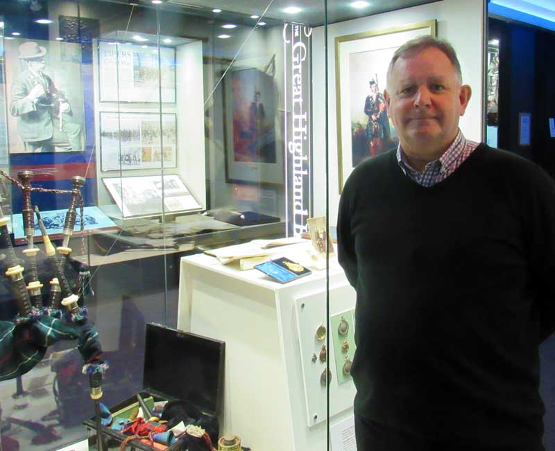 Roddy MacLeod in the newly refurbished museum.