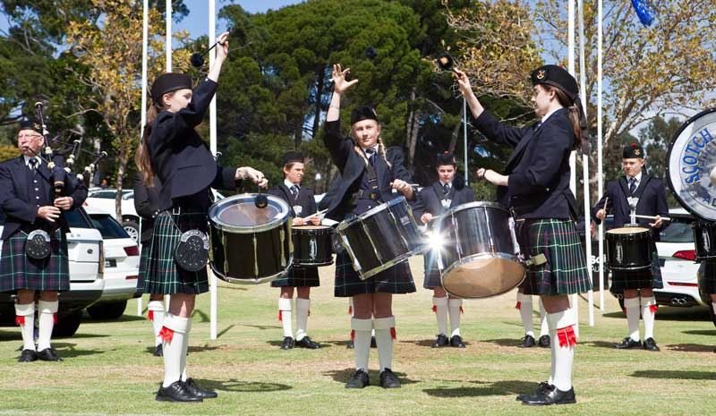 Scotch College Adelaide Pipe Band. The band is one of eight bands from Australia travelling to compete at Inverness on June 29.