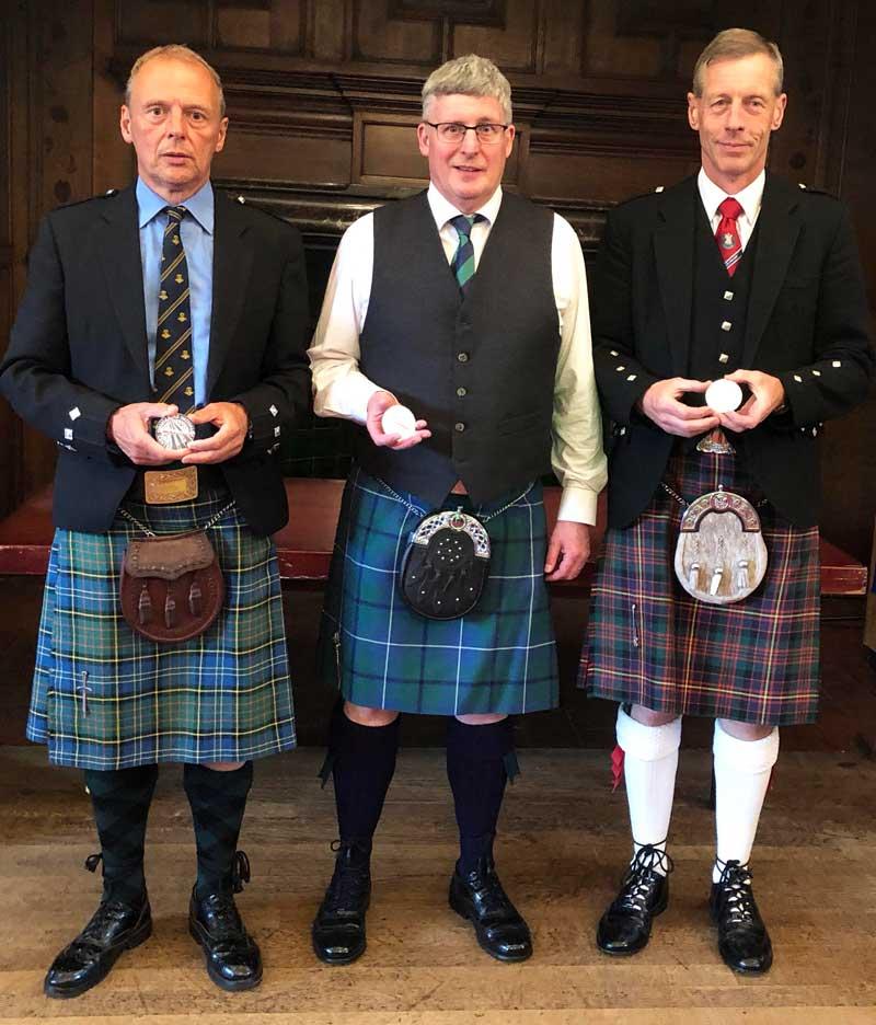 Overall winners, L-R: Stewart Gaudin (Grade 1) Iain Kirkwood (Grade 2) and Bill Copland (Grade 3)