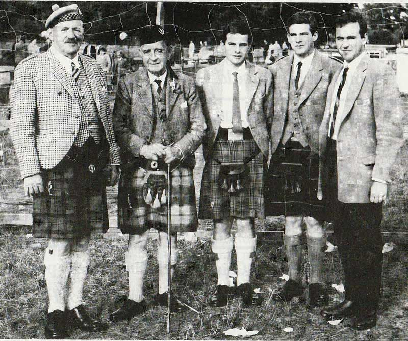Capt. D.R. MacLennan, Angus Macpherson and the Allain brothers.