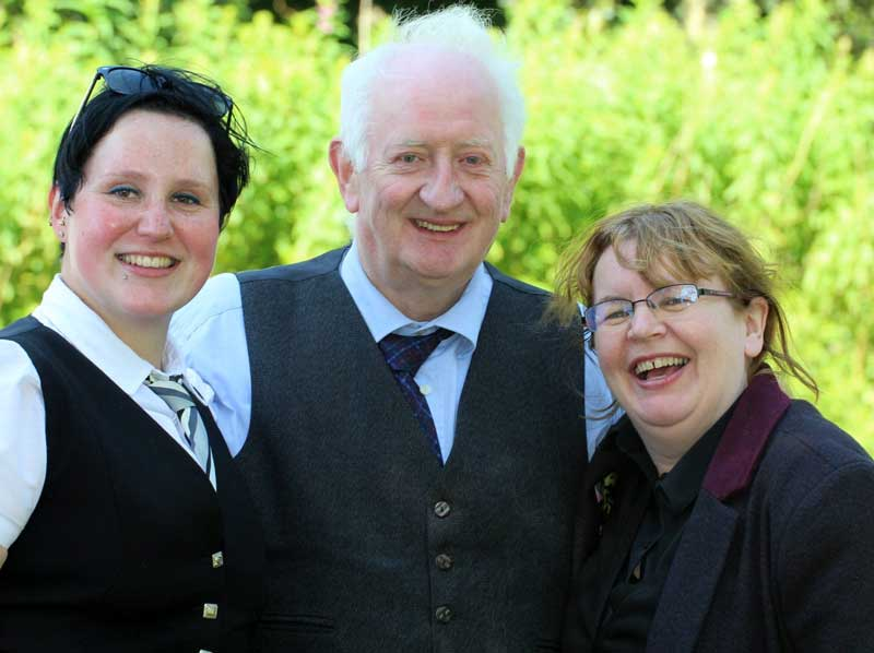 Bianca Kail, Con Houlihan and Gill Cairns today at Balloch.