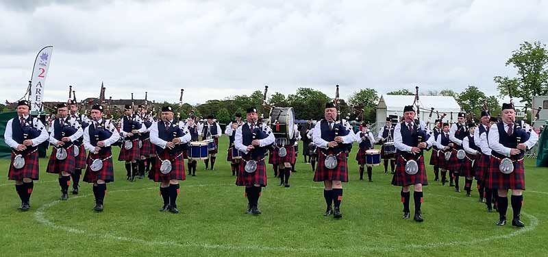 Royal Burgh of Annan Pipe Band.