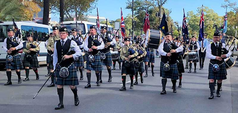 City of Adelaide Pipe Band.