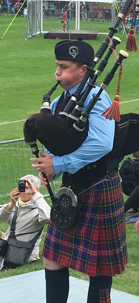 Unidentified junior piper, Forres Games 2019.