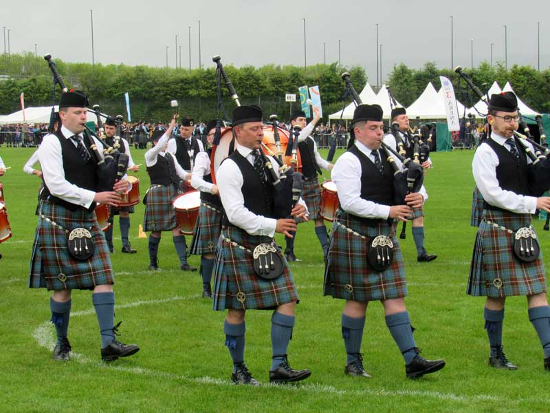 Boghall pictured earlier this season at the British Pipe Band Championships Paisley.