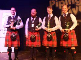 The winning 2019 International Quartet, Field Marshal Montgomery. L-R: Graham Drummond, Scott Wallace, Bradley Parker and Glenn Ross.