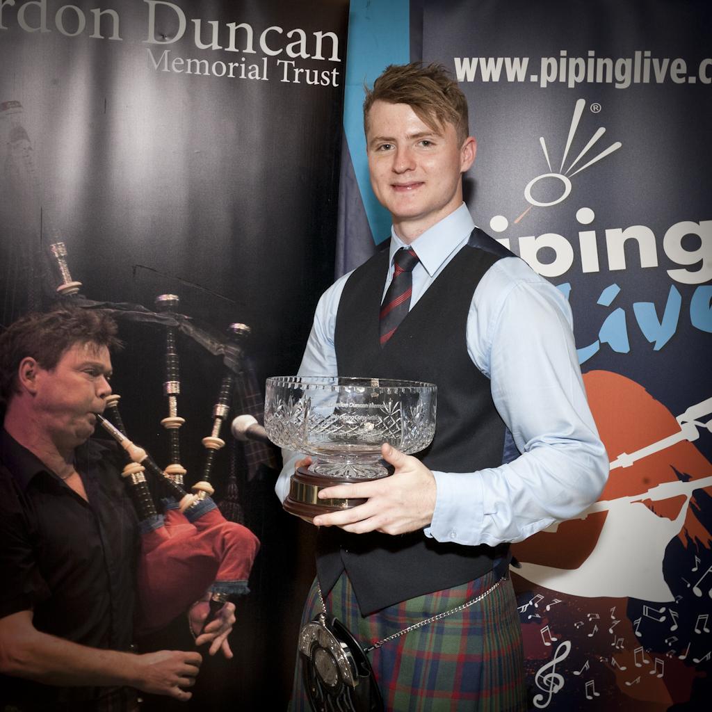 Bradley Parker with the Gordon Duncan Memorial trophy.