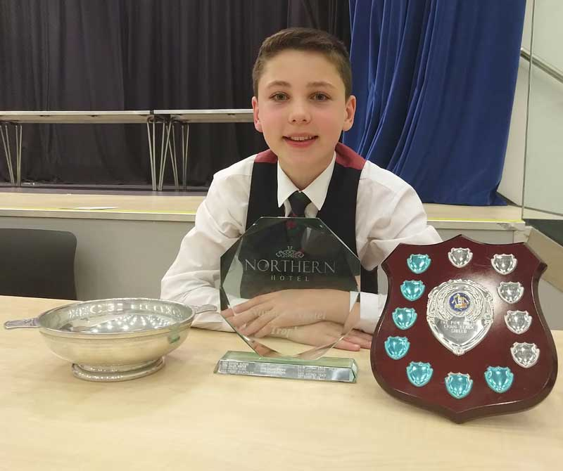 Archie McNab, Methven: overall Under 15 Champion Piper yesterday at Brechin.