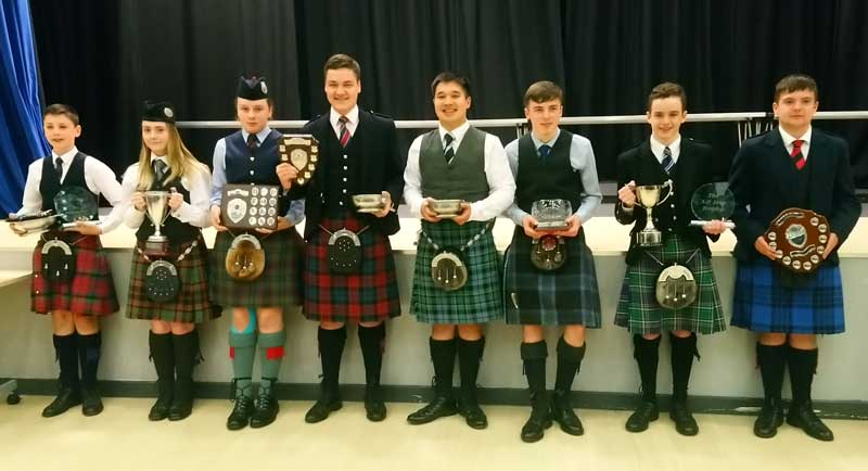 Afternoon prizewinners from Saturday's City of Brechin Pipe and solos.