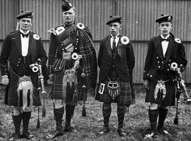 Cowal 1934. L-R: Robert Reid, Roddy MacDonald, Donald MacLean and Peter MacLeod Jnr.
