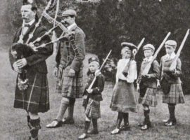 Henry Forsyth leads the royal children in some drill.