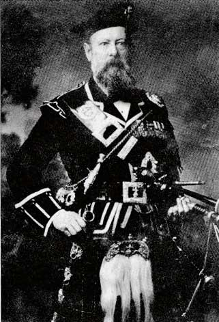 James Campbell, third Sovereign's Piper.