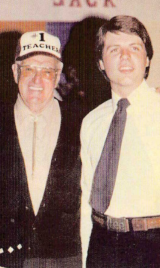 Jimmy MacMillan and a young Jack Lee pictured in 1981 at a homecoming party to celebrate Jack winning the Inverness Gold Medal.