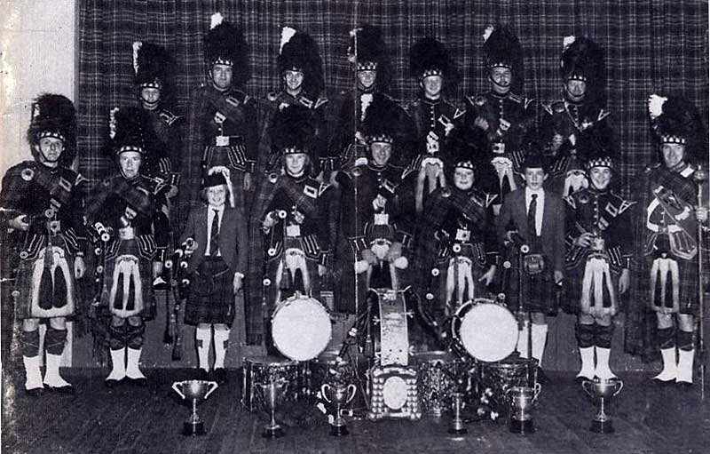 Lochryan Pipe Band in 1978.