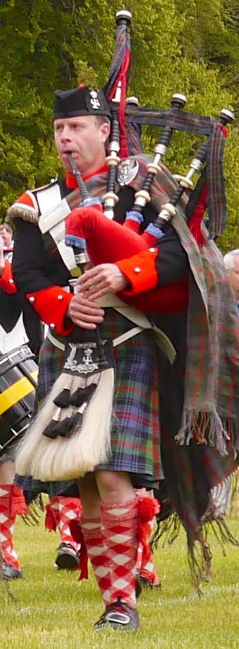 Mark Stewart at the 2013 Atholl Highlanders' Parade.