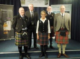 L-R: Logan Tannock, Ann Lore, George Johnston, Brian Mulhearn and Allan Hamilton.