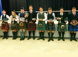 Afternoon prizewinners at the Brechin solos yesterday.