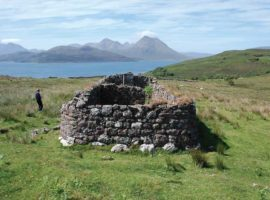 The ruins of John MacKay's house at the southern end of Raasay.