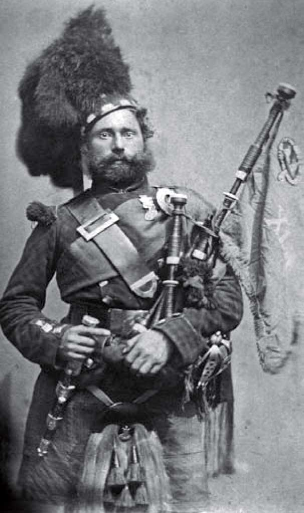 Piper David Moir, 42nd Highland Regiment of Foot. He enlisted in 1845 and served in the Crimean War and the indian Mutiny.