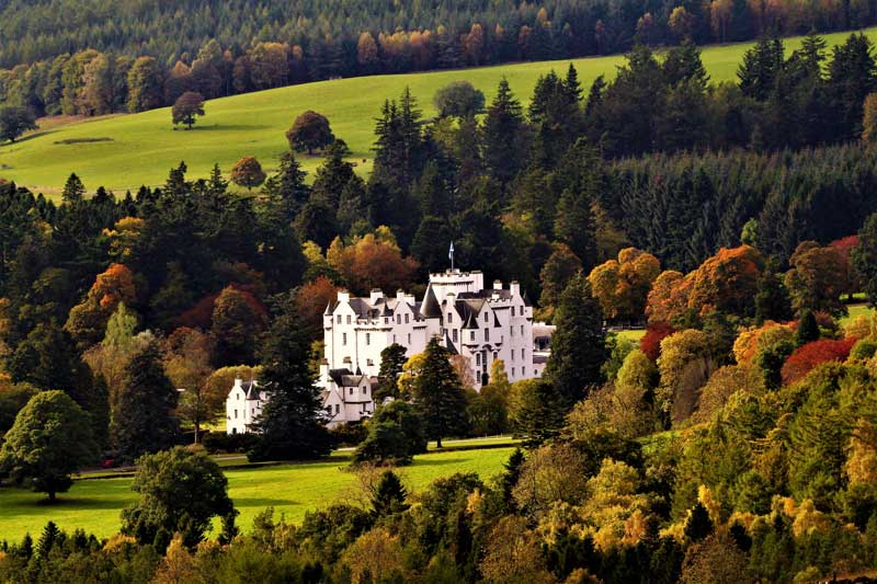 Blair Castle in autumn.